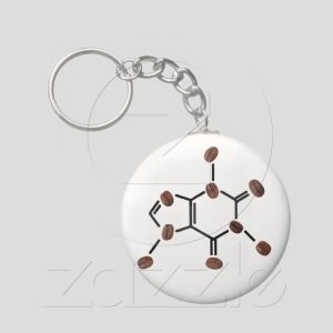 coffee molecule key chain