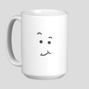 coffee faces on mugs